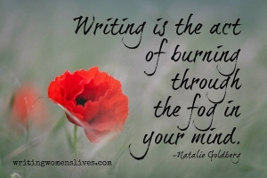 <h5>Writing is the act of burning through the fog in your mind. —Natalie Goldberg</h5><p>WritingWomensLives.com #writingclass #womenswriting #womensmemoir																																																																																																																																																																																																																																																																																																																																																																																																																																																																																																																																																																																																																																																																						</p>