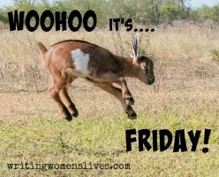 <h5>WOOHOO it's.... FRIDAY!</h5><p>WritingWomensLives.com #writingclass #womenswriting #womensmemoir																																																																																																																																																																																																																																																																																																																																																																																																																																																																																																																																																																																																																																																																						</p>