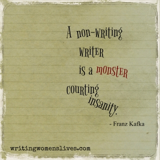 <h5>Franz Kafka</h5><p>A non-writing writer is a monster courting insanity.																																																																																																																																																																																																																																																																																																	</p>