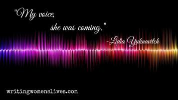 <h5>My voice, she was coming.</h5><p>WritingWomensLives.com #writingclass #womenswriting #womensmemoir</p>