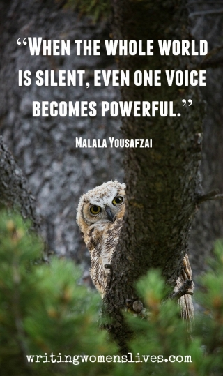 <h5>When the whole world is silent, even one voice becomes powerful.</h5><p>																																																																																					WritingWomensLives.com #writingclass #womenswriting #womensmemoir																																																																																																																																																																																																																																																																																																																																																																																																																																																																																																																																																																																																																																																																						</p>